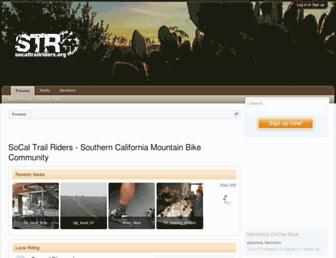 Main page screenshot of socaltrailriders.org