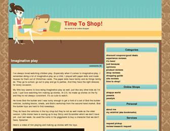 Main page screenshot of timetoshop.fairycorner.net