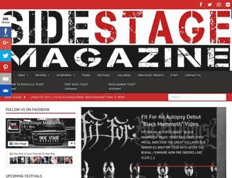 sidestagemagazine.com screenshot