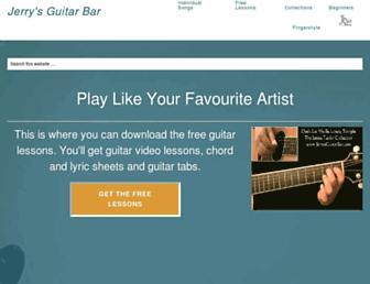 jerrysguitarbar.com screenshot