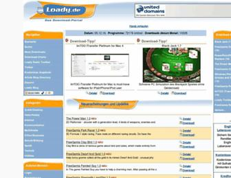 Main page screenshot of freeload.at