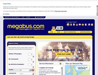 uk.megabus.com screenshot