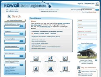 capitol.hawaii.gov screenshot