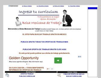 Thumbshot of Bolsamexicanadetrabajo.com