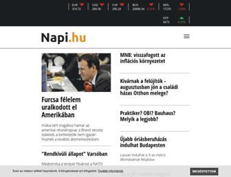 Main page screenshot of napi.hu