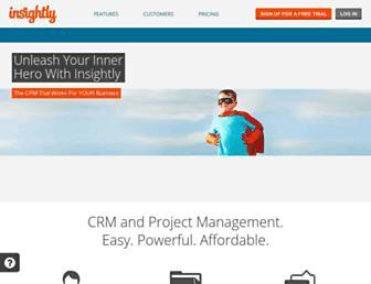 Main page screenshot of insight.ly
