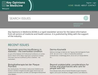 Main page screenshot of keyopinions.info
