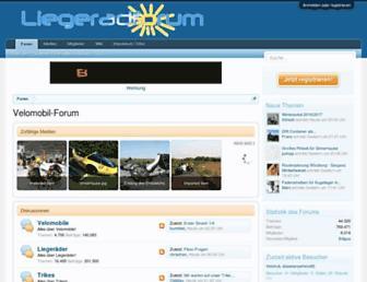 Main page screenshot of velomobilforum.de