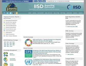 Main page screenshot of iisd.ca