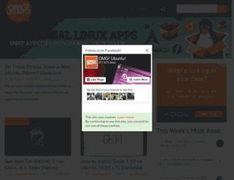 Main page screenshot of omgubuntu.co.uk