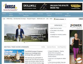 Main page screenshot of cms.ihrsa.org