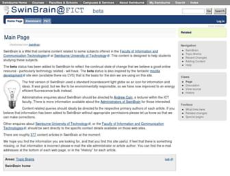 swinbrain.ict.swin.edu.au screenshot