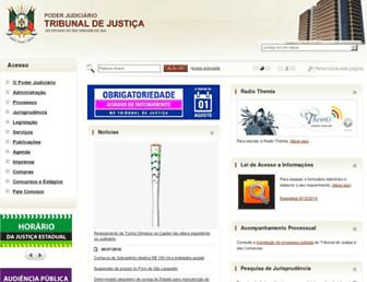 Main page screenshot of tjrs.jus.br