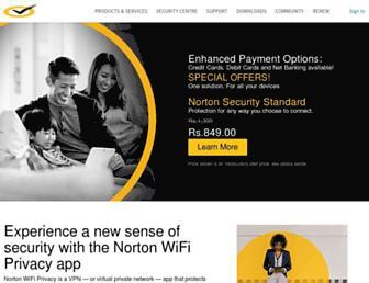 in.norton.com screenshot