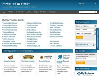 franchisedirect.com screenshot
