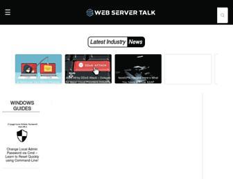 webservertalk.com screenshot