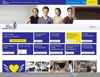Main page screenshot of rocmiddennederland.nl