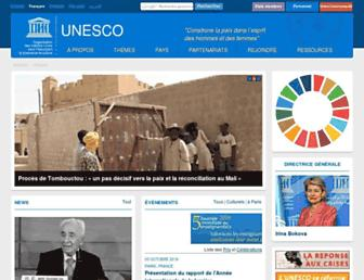fr.unesco.org screenshot