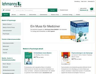 lehmanns.de screenshot