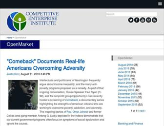 Main page screenshot of openmarket.org