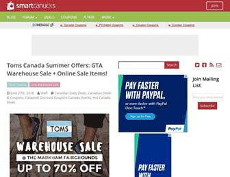 Main page screenshot of smartcanucks.ca