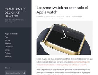 Main page screenshot of canalmac.es