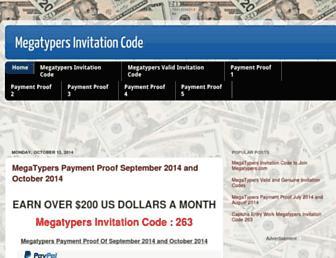 megatypers-invitationcode.blogspot.com screenshot