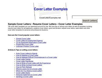 coverletterexamples.net screenshot