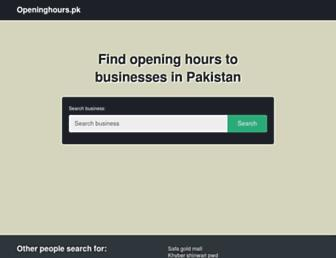 openinghours.pk screenshot