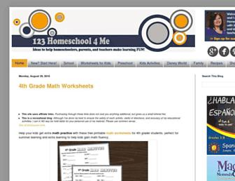 123homeschool4me.com screenshot