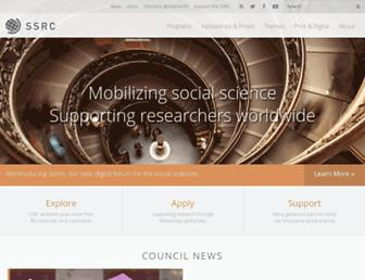 Thumbshot of Ssrc.org
