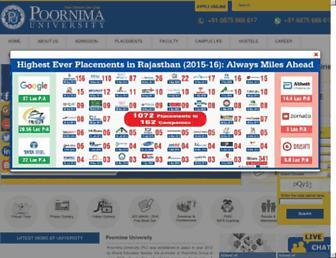 poornima.edu.in screenshot
