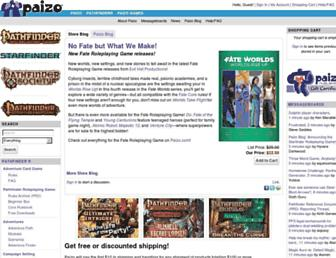 paizo.com screenshot