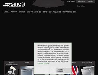 Main page screenshot of smeg.it