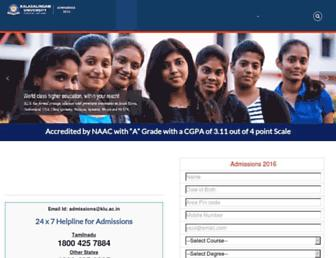 admissions.kalasalingam.ac.in screenshot