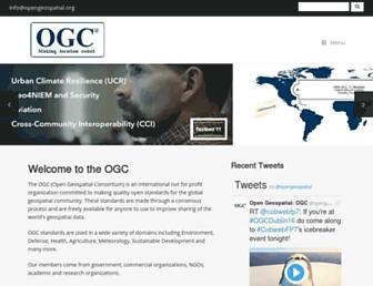 opengeospatial.org screenshot