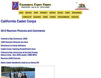 calcadetcorps.org screenshot