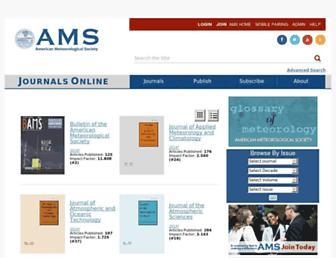 journals.ametsoc.org screenshot