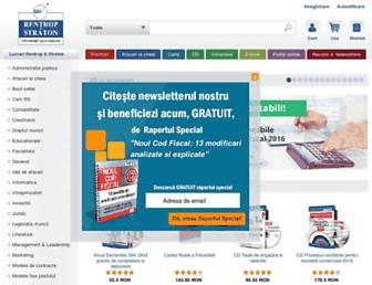 Main page screenshot of rs.ro