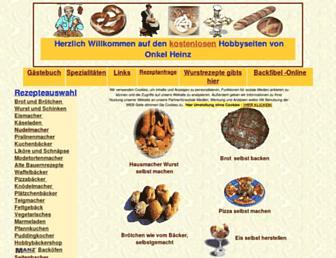 Main page screenshot of onkelheinz.de