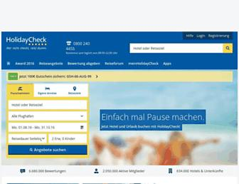 holidaycheck.de screenshot