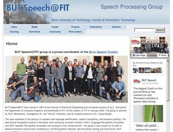 speech.fit.vutbr.cz screenshot