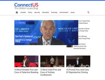 connectusfund.org screenshot