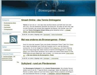 Main page screenshot of best-browsergames.de