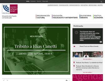 Main page screenshot of casasefarad-israel.es