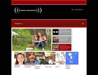 haskins.yale.edu screenshot