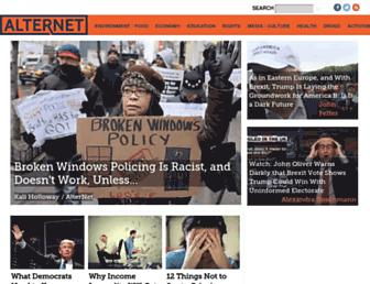 Main page screenshot of alternet.org