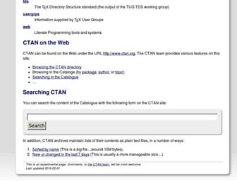tug.ctan.org screenshot