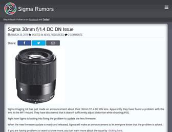 Thumbshot of Sigma-rumors.com