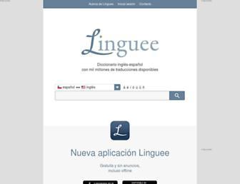 Main page screenshot of linguee.cl